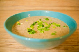 Грибной крем-суп из шампиньонов со сливками