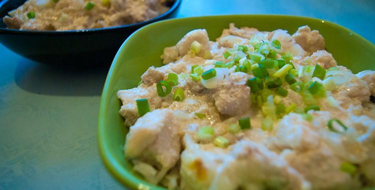 Белая рыба в сливочном соусе