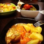 Картофельное рагу с курицей