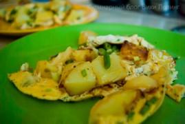 Быстрый омлет с картошкой в испанском стиле