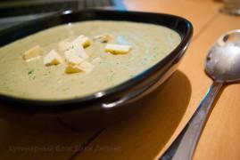 Сырный суп-пюре из баклажанов с Дор Блю