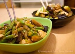 Стир-фрай: курица с овощами