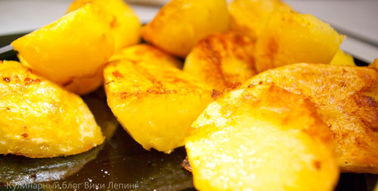 Хрустящие картофельные дольки по-деревенски