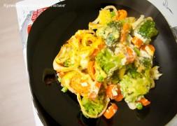 Запеченные овощи в духовке с сыром