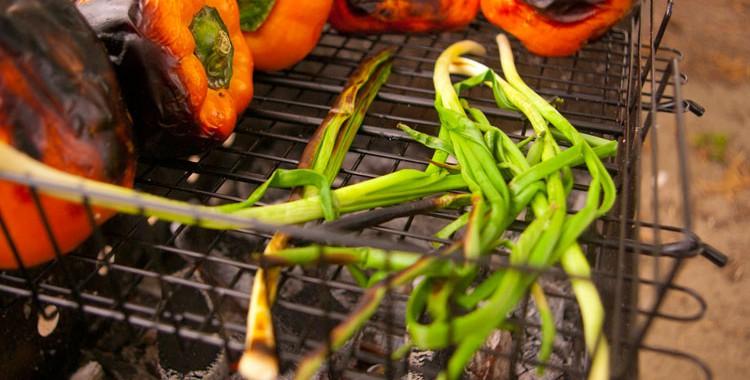 Овощи на мангале, салат из овощей-гриль