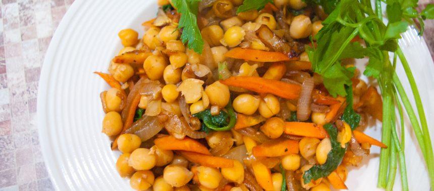Жареный нут с овощами: рецепт азиатской кухни