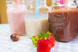 Молочный коктейль для всех - банановый, шоколадный, клубничный!