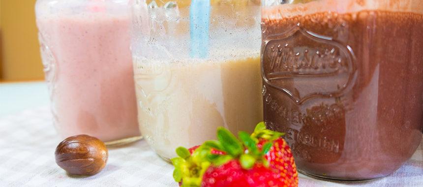 Молочный коктейль для всех — банановый, шоколадный, клубничный!