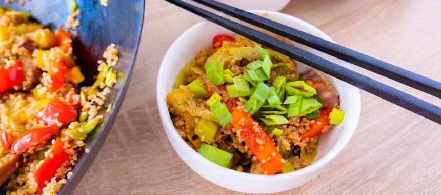 Киноа и овощи Вок дома — рецепт самого быстрого и вкусного ужина